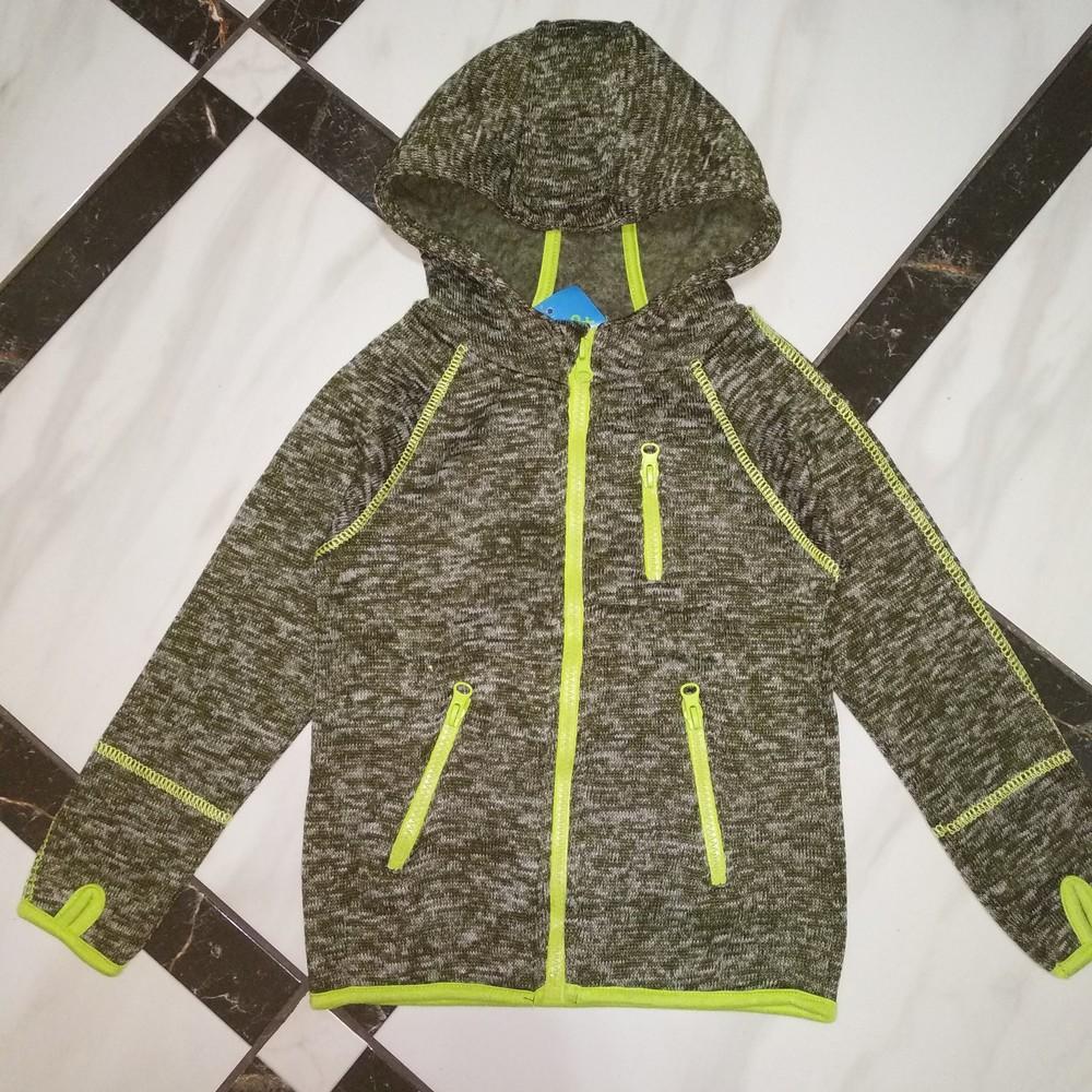 Теплая вязаная флисовая кофта на мальчика kiki&koko фото №1
