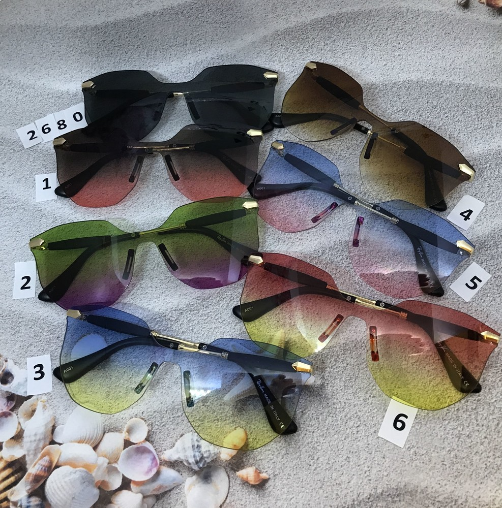 Модные солнцезащитные очки с цветными линзами фото №1