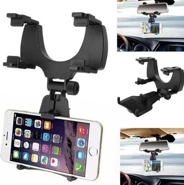 Автомобильный держатель для телефона / видеорегистратора / навигатора на зеркало фото №1