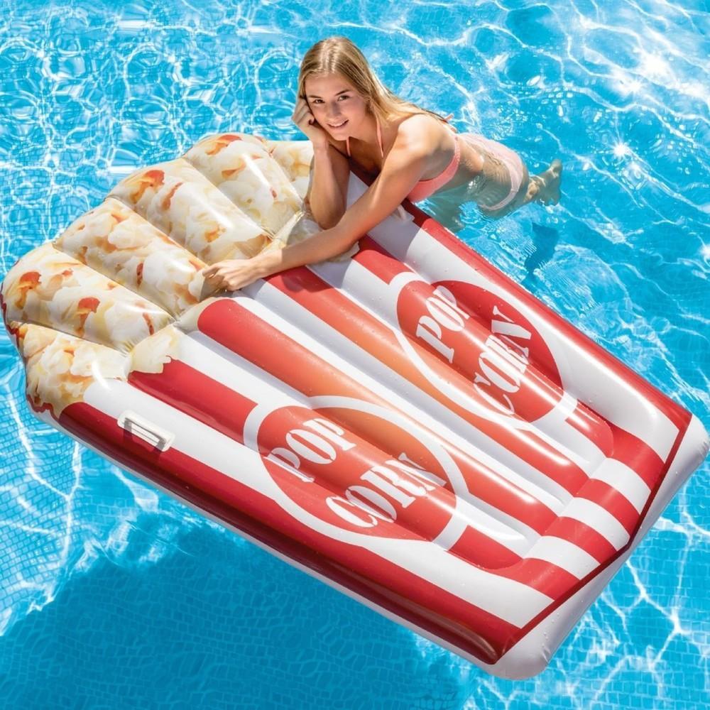 Пляжный надувной матрас intex 58779 попкорн (178 х 124 см) фото №1