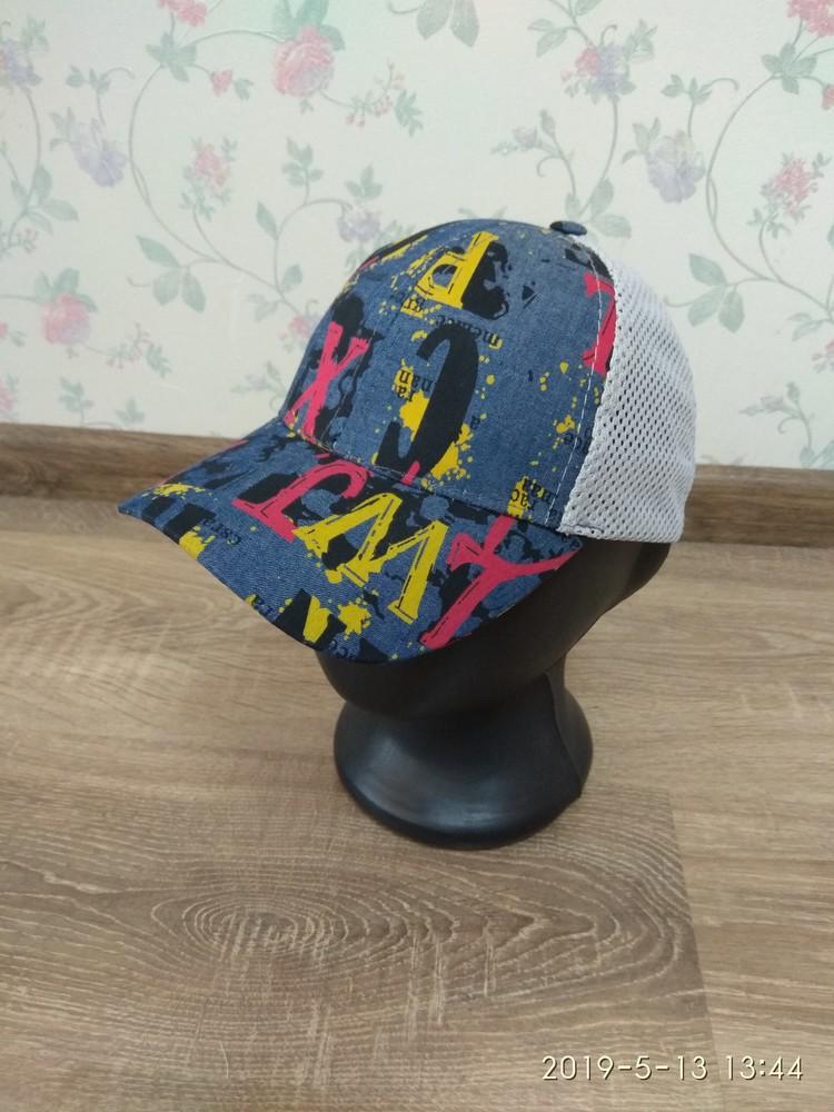 Бейсболка кепка с сеткой для мальчиков 50-52 размер фото №1