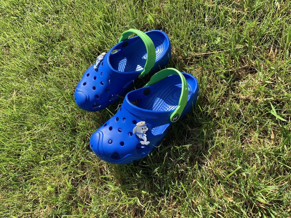 Кроксы - сабо для мальчика от 5-10 лет, синего цвета фото №1
