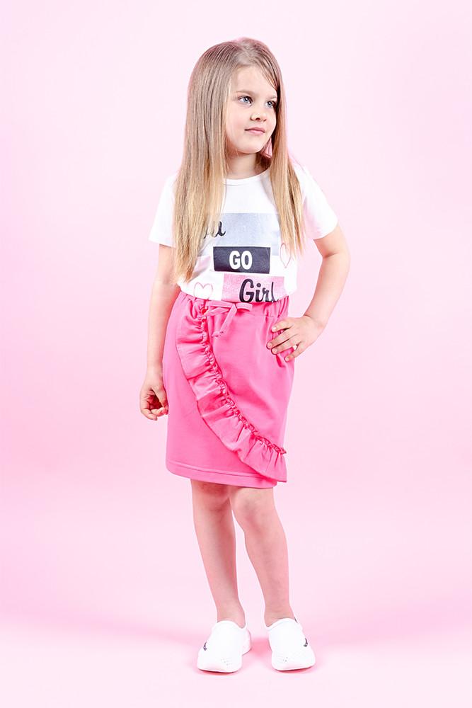 Детский комплект летний костюм для девочек фото №1