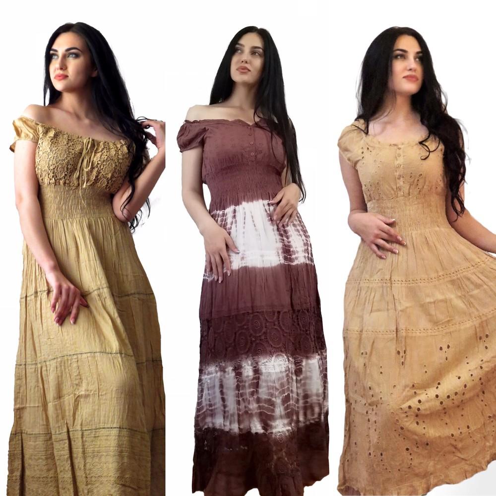 Женские платья и сарафаны. индия.  размеры до 60 натуральный хлопок.  фото №1