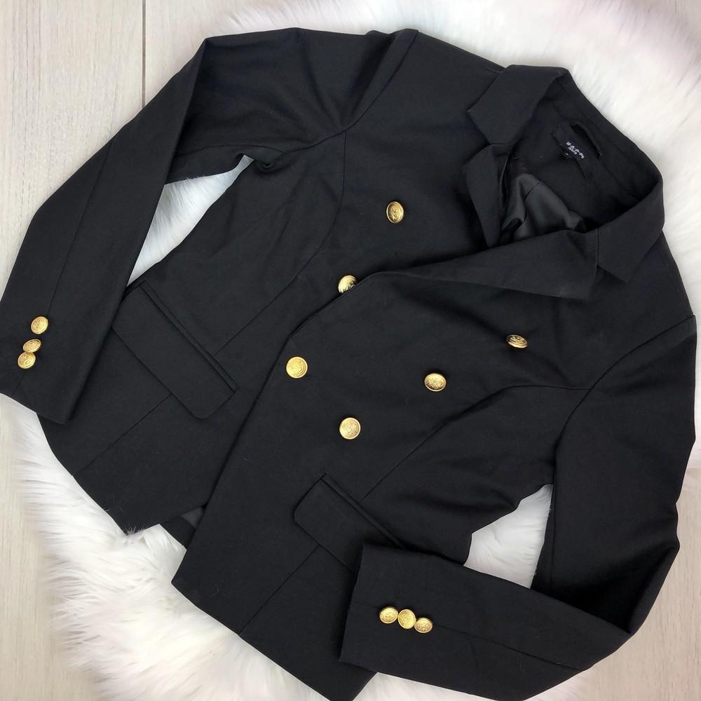 Пиджак черный с золотыми пуговицами (s) фото №1