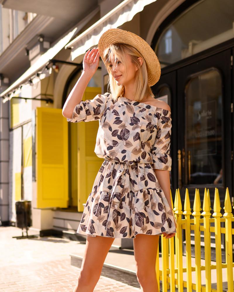 Новинка 2019 легкое воздушное платье мини ассортимент цветов фото №1