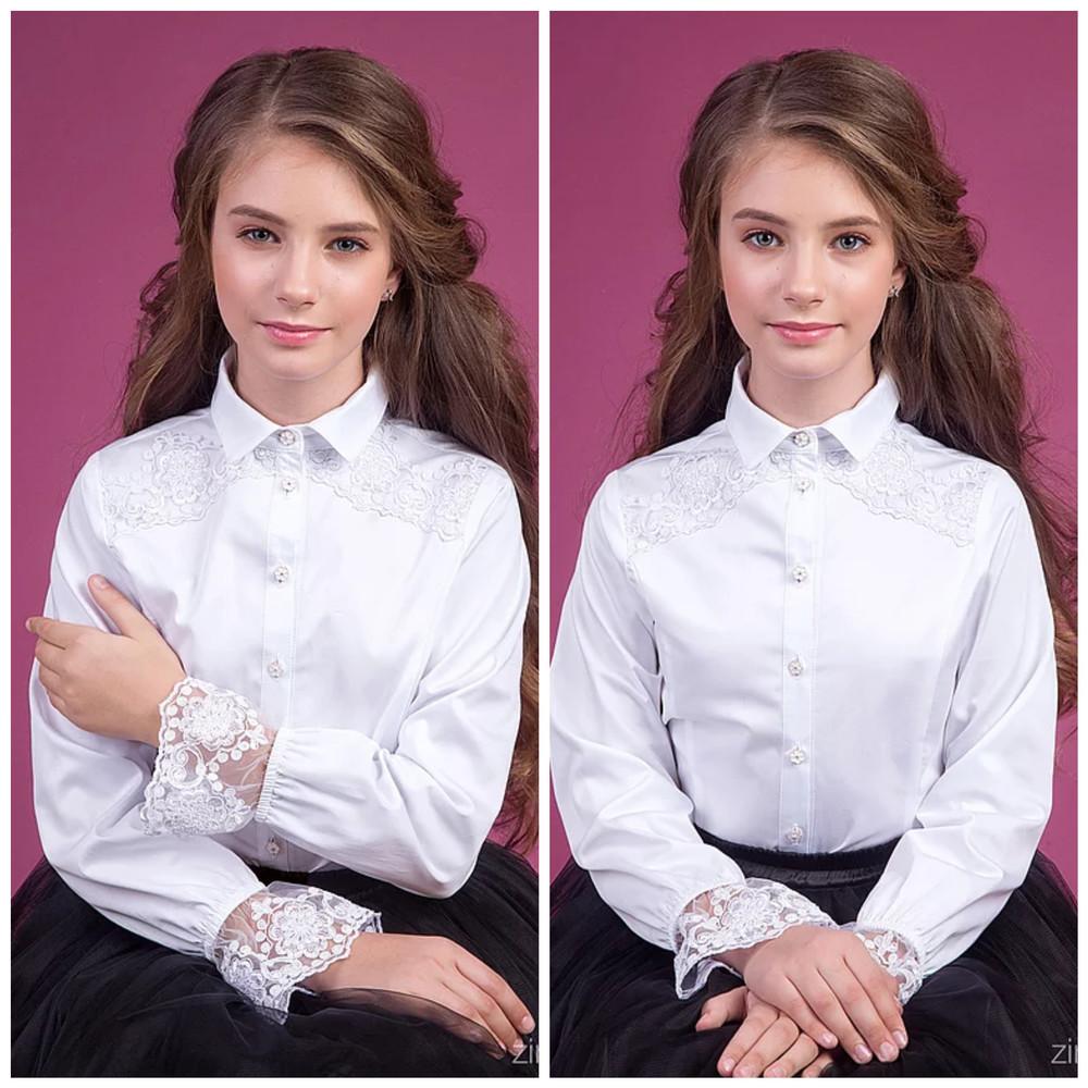 Шикарные школьные блузки фото №1