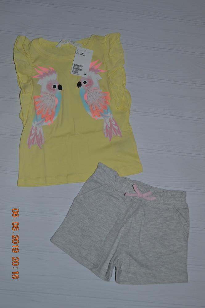 Нові літні костюми h&m для дівчат розм. 92, 104, 116 і 128 в наявності фото №1