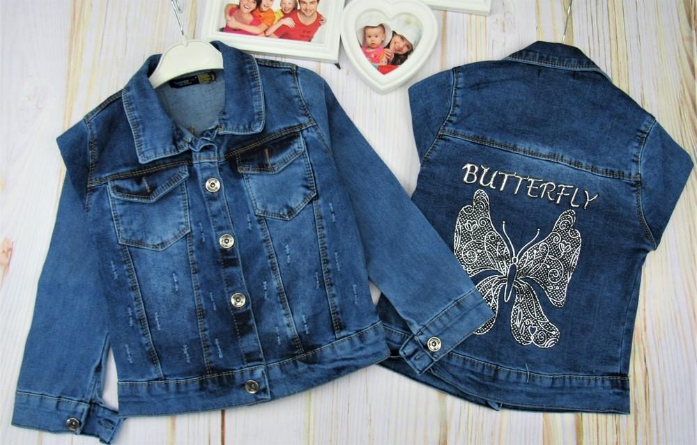 Джинсовый пиджак на девочку фото №1