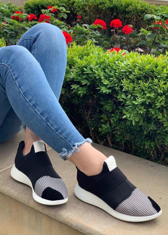 Кроссовки женские легкие без шнурков (15209ч) фото №1