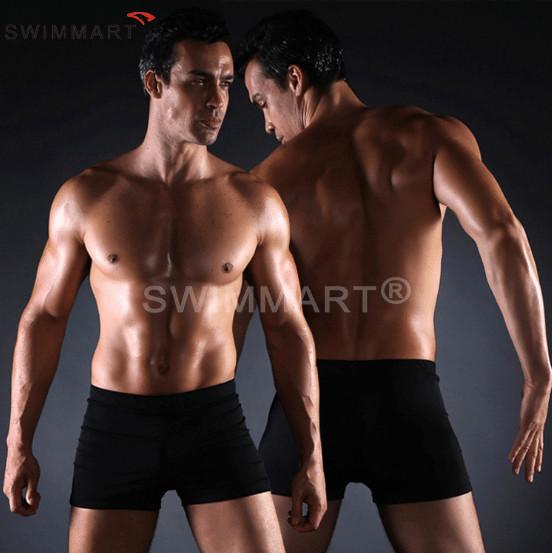 Плавки мужские купальные, трусы-боксеры для бассейна, пляжа черные фото №1