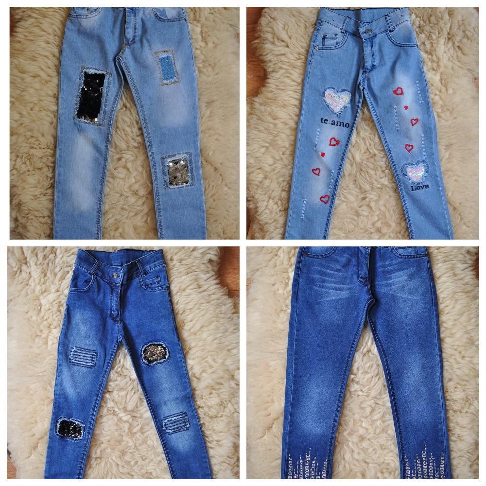 Фирменные джинсы, камни, вышивка, турция, хит, от 6 до 12 лет, очень огромный выбор фото №1
