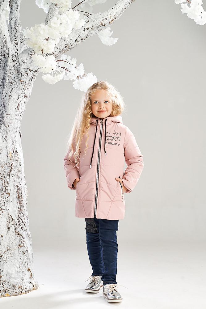 Удлиненная демисезонная куртка на девочку 4-8 лет, 7233 фото №1