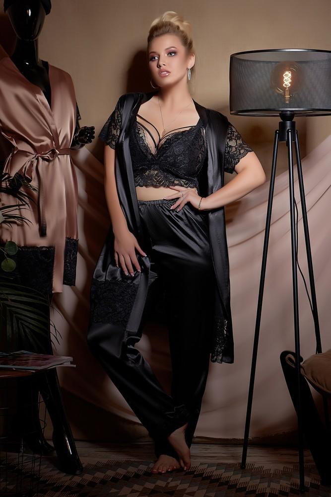 Шикарный халат с пижамой большие размеры фото №1