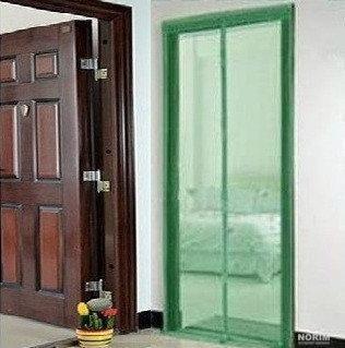 Москитная сетка на магнитах 210х120 зеленая фото №1