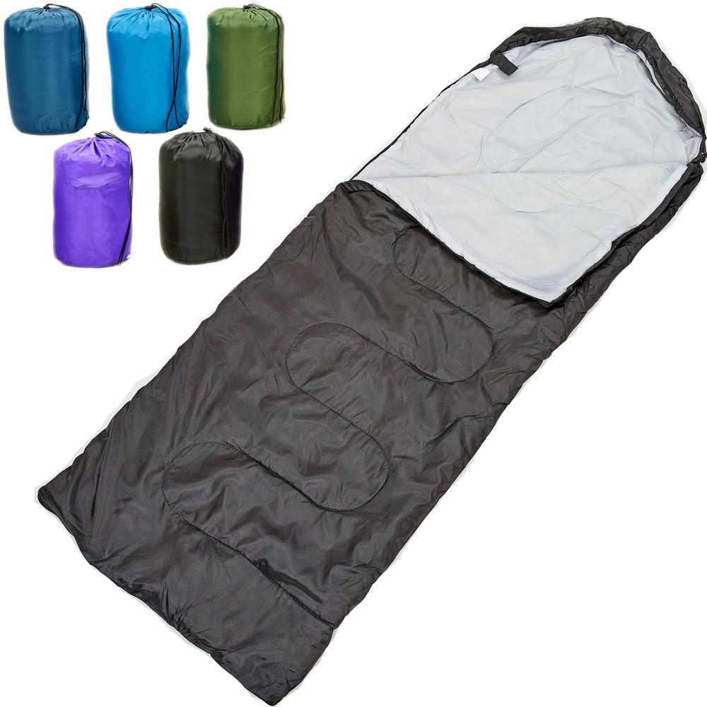 Спальный мешок одеяло с капюшоном 0561 (спальник): размер 210x70см, от +10 до -10 фото №1
