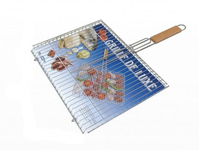 Решетка-барбекю №509 супер с деревянной ручкой lux фото №1