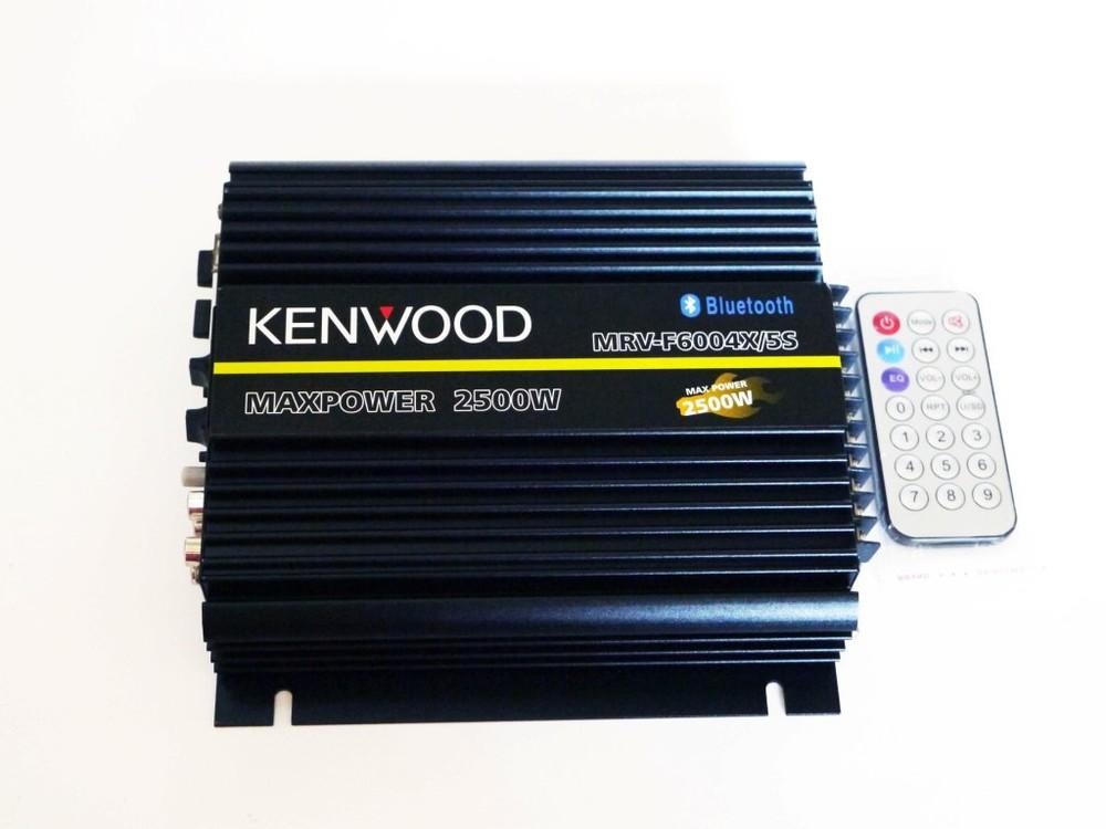 Автомобильный усилитель звука kenwood mrv-f6004x/5s 2500w 4-х канальный bluetooth фото №1