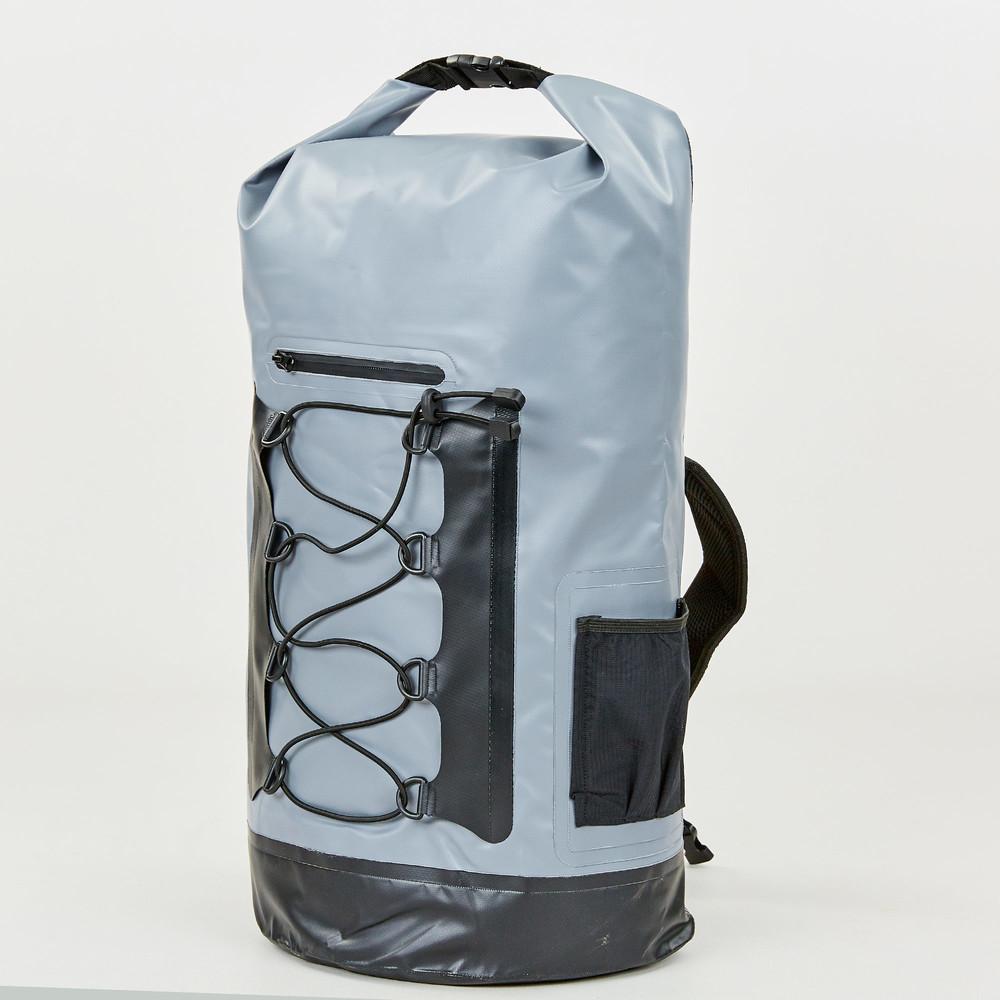 Водонепроницаемый рюкзак waterproof bag 0381-28: объем 28л (серо-черный цвет) фото №1