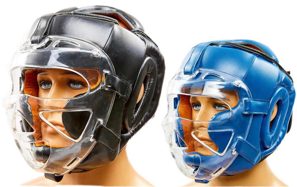 Шлем для единоборств с прозрачной маской venum flex 8348: размер м-xl (2 цвета) фото №1