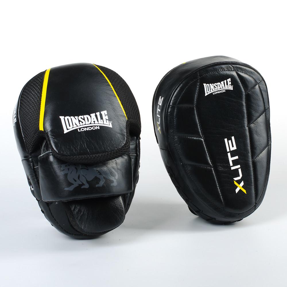 Лапа изогнутая кожаная боксерская lonsdale xlite 8339: 2 лапы в комплекте, размер 23x18x5см фото №1