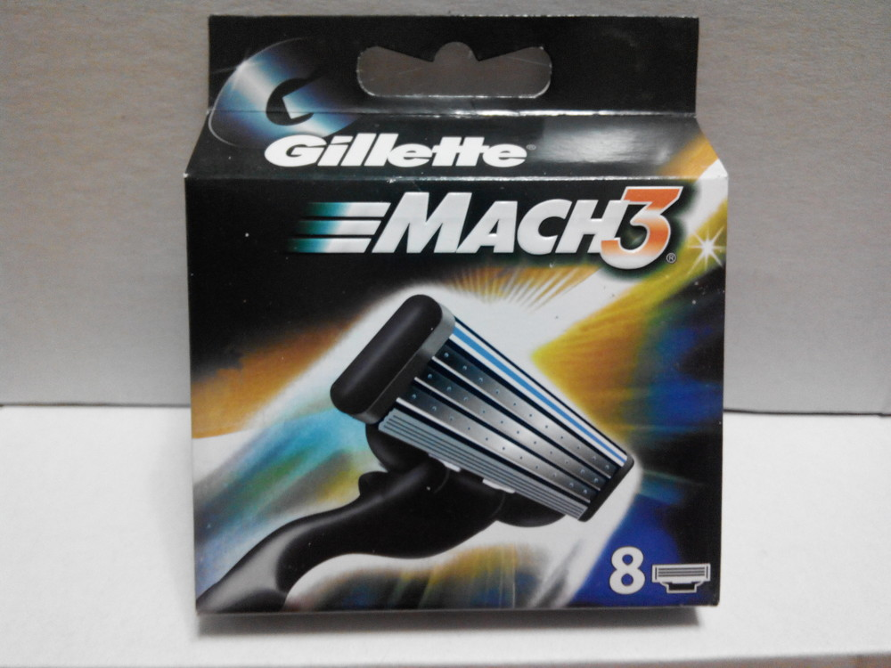 Gillette mach 3 new 8шт фото №1