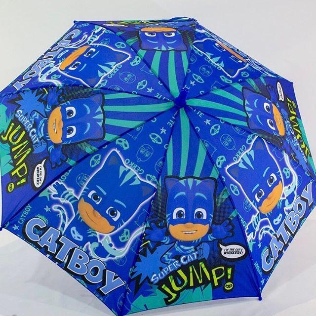 Качественный яркий детский зонт герои в масках для мальчика и девочки 4-8 фото №1