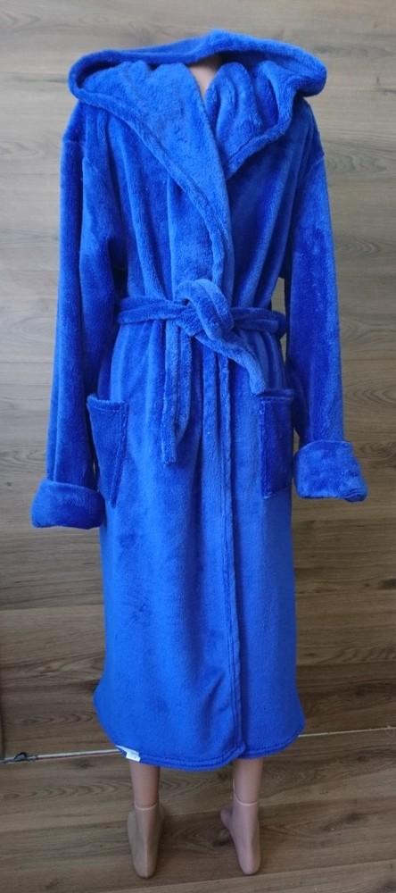 Мужской халат синий фото №1