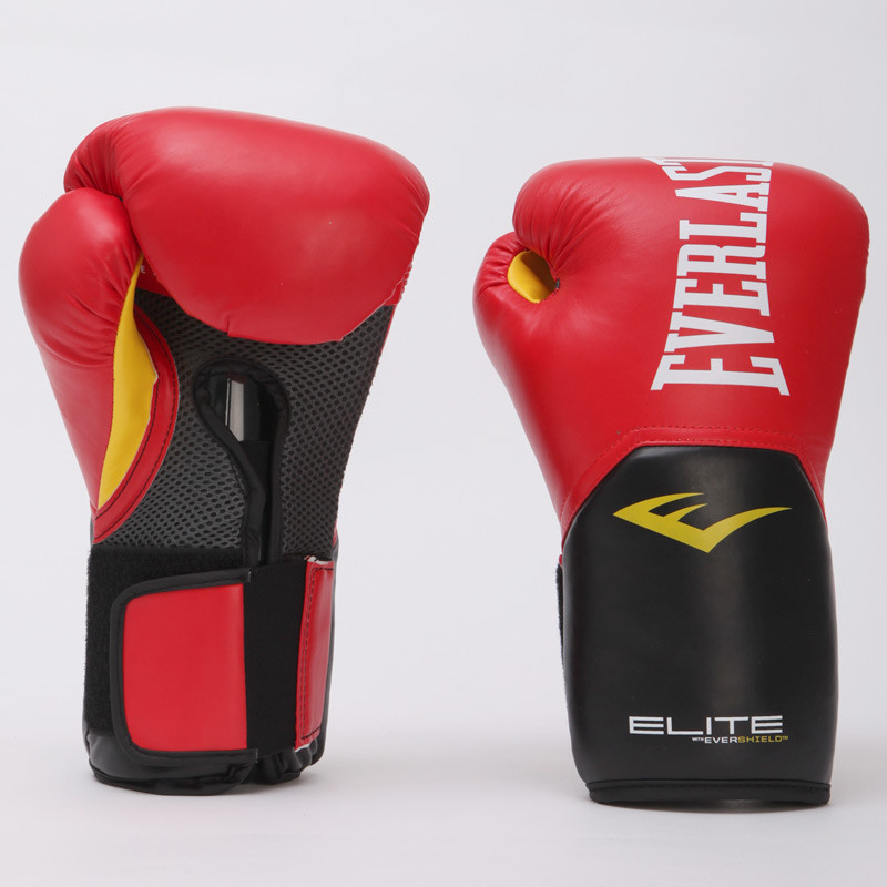 Перчатки боксерские на липучке everlast pro style elite 001198: 14 унций фото №1