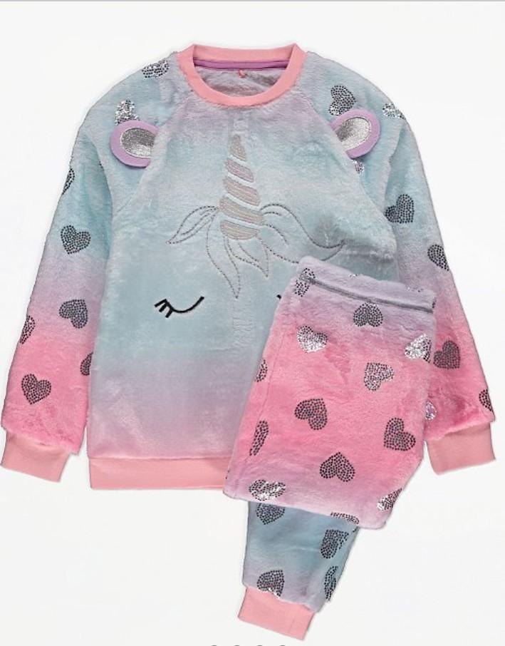 Флисовые пижамки единорожки от 9 до 14 лет фото №1