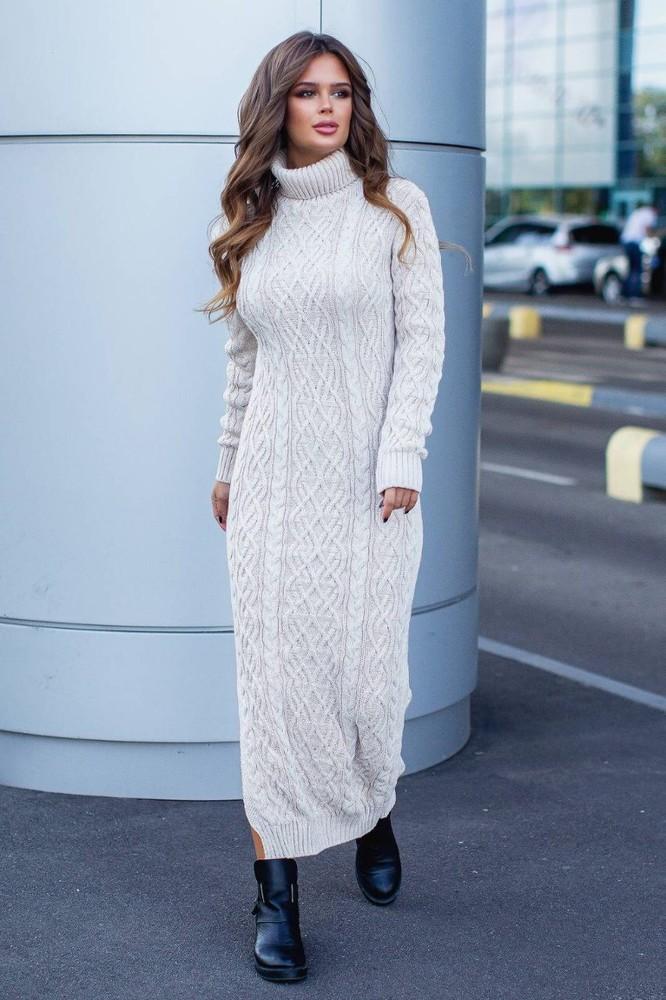 Вязаное длинное платье картинки