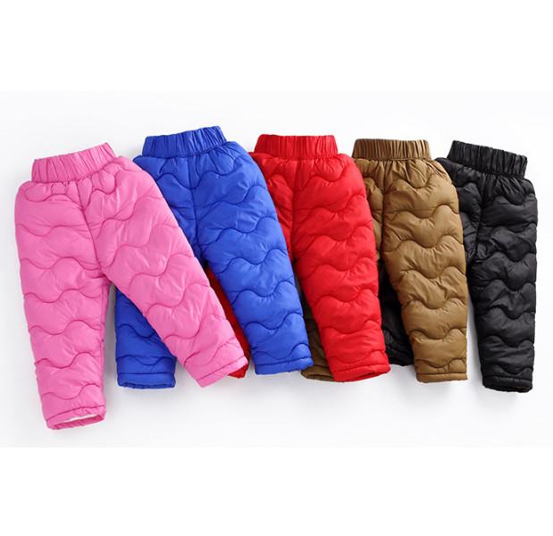 Детские штаны на меху штаны теплые на мальчика на девочку утепленные штаны для девочки 440132 фото №1