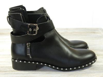 Кожаные демисезонные ботинки twenty two фото №1