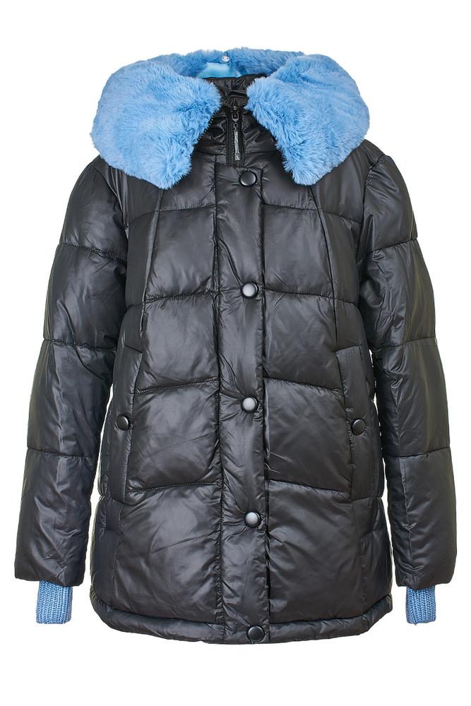 Стеганая женская куртка с отстегивающимся мехом, 29275 фото №1