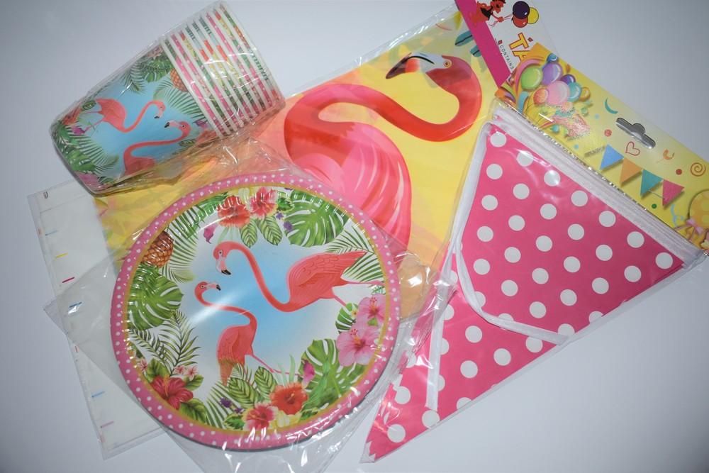 """Набор для детского дня рождения в стиле """"фламинго"""" фото №1"""