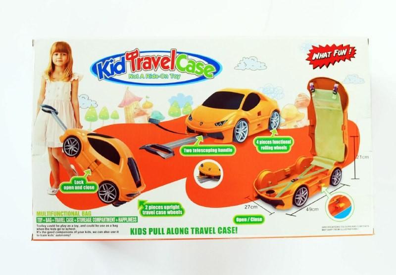Детский чемодан машинка lamba фото №1