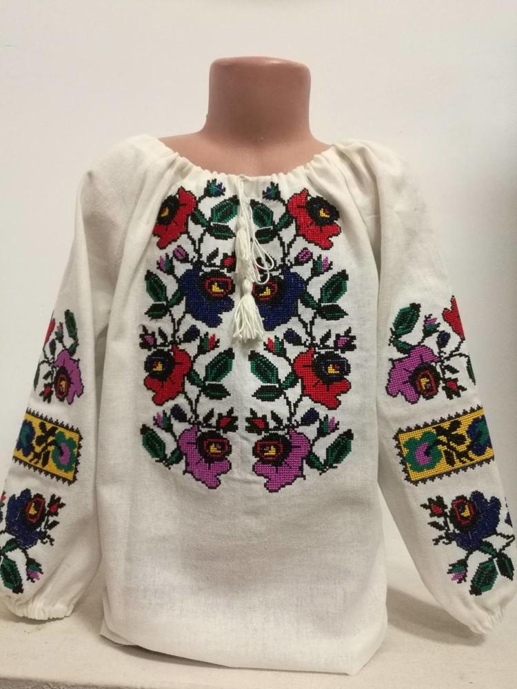 Яркая вышиванка для девочки 116-170 фото №1
