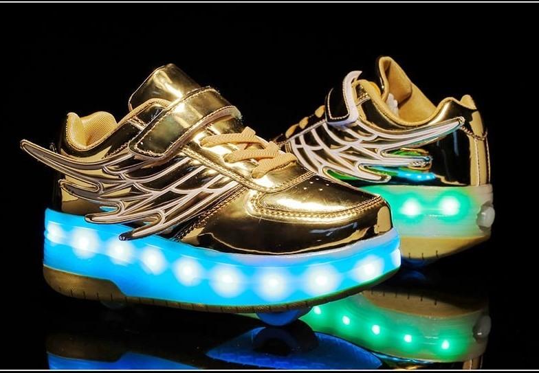 Кроссовки на 2-х роликах, светящиеся хилисы. супер качество фото №1