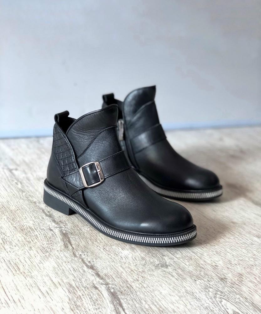 Кожаные ботинки / деми фото №1