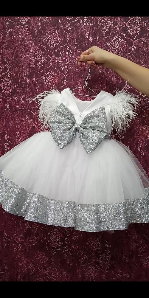 Платье на утренник.платье снежинка фото №1