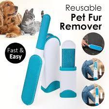 Щётка для удаления шерсти животных reusable pet fur remover with self-clean фото №1