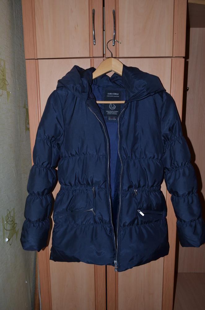 Куртка-пуховик женская zara 42 р + в подарок тренч zara фото №1