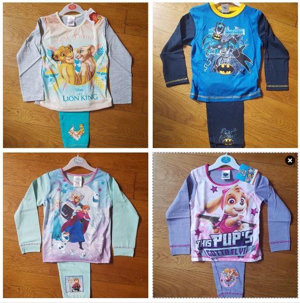 Пижамки для девочек и мальчиков, англия. разные расцветки, размеры от 18-24 мес до 10 лет фото №1