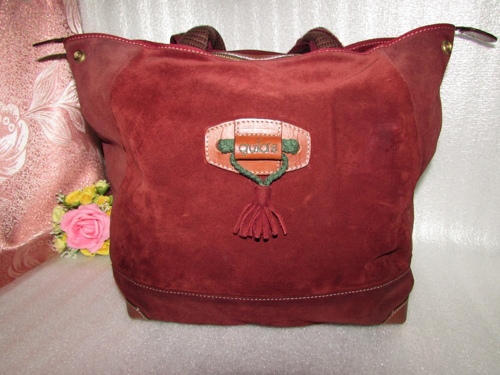 Большая итальянская сумка 100% натуральная кожа~gula's~ фото №1