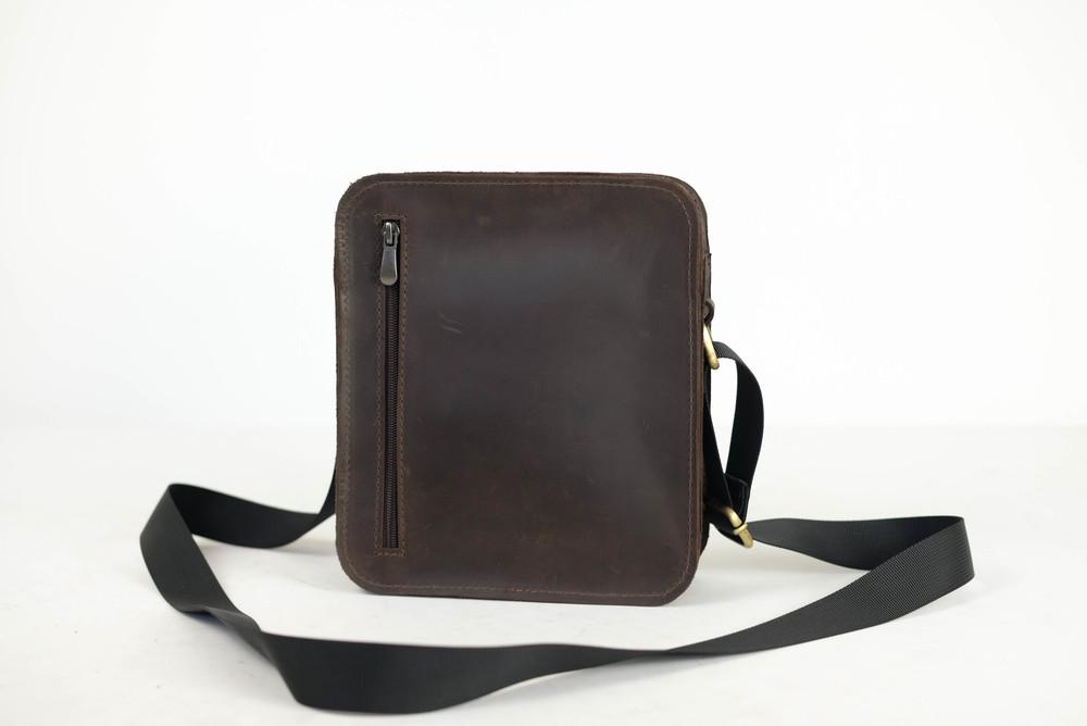 Кожа. ручная работа. кожаная мужская сумка через плечо фото №1