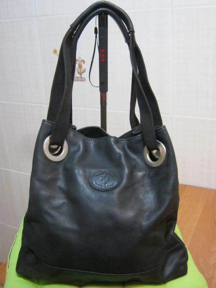 Vera pelle.италия.нат.кожа большая сумка шоппер. дешево! фото №1