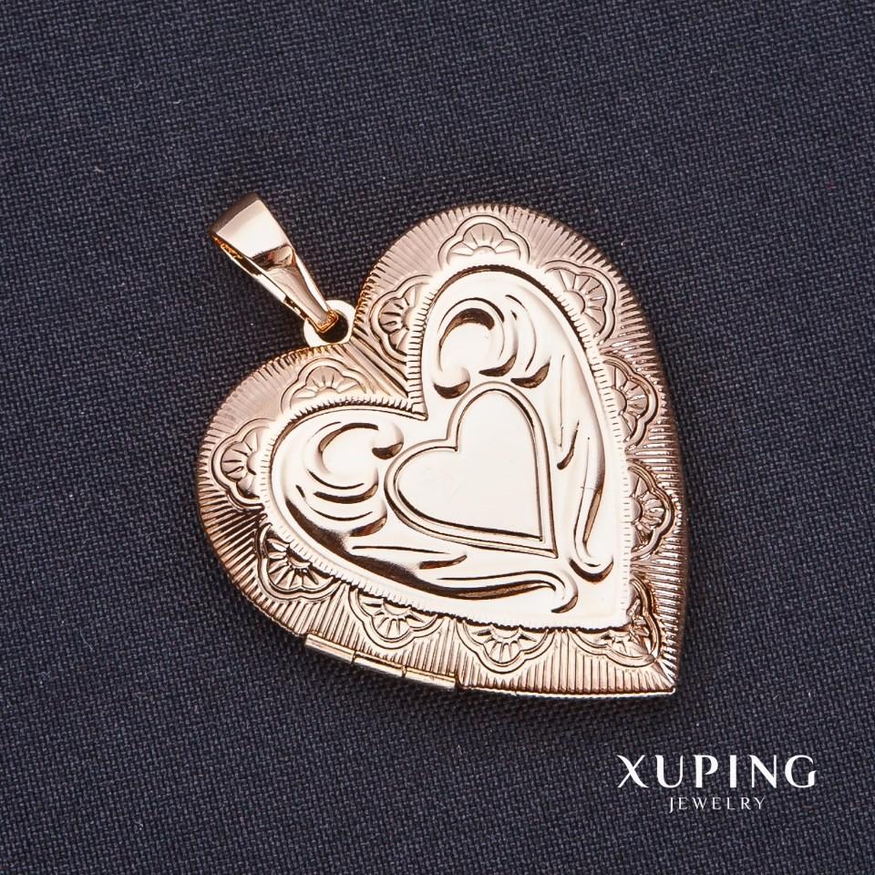 Кулон xuping сердце с секретом фото №1