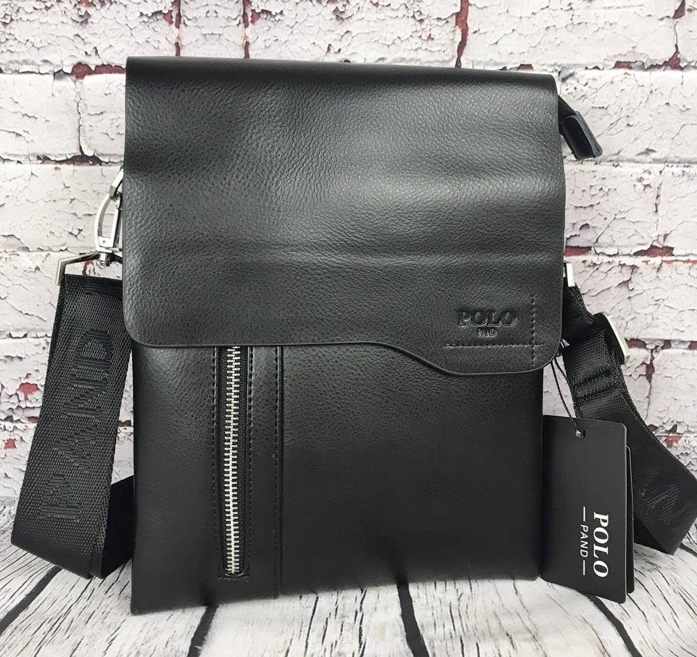 Мужская сумка-планшет polo с ручкой. барсетка мужская. размер(в см) 27 на 21 кс81 фото №1