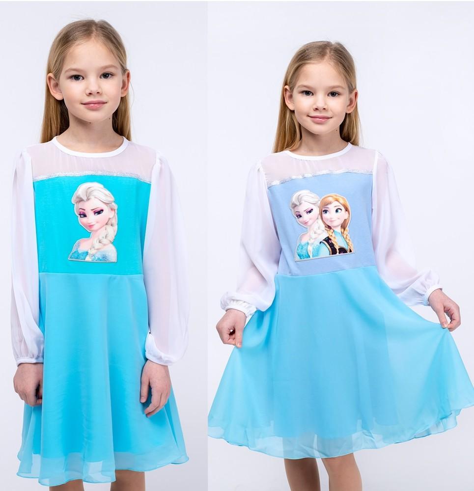 Нарядное платье с анной и эльзой. фото №1