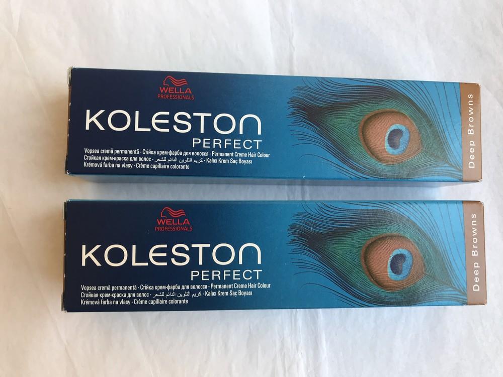 Стойкая крем-краска для волос wella professionals koleston perfect deep browns 8/73, 2 шт фото №1